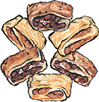Chocolate and Raspberry Rugelach Cookies Gift Box