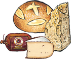 3 Cured Meats & Cheeses plus Bread Customizable Gift Box