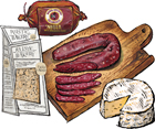 3 Cured Meats & Cheeses plus Crackers Customizable Gift Box