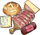 4 Cured Meats & Cheeses plus Bread Customizable Gift Box