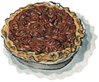 Toasted Pecan Pie in our Cartoon Cardboard Box