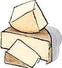 Prairie Tomme Cheese from Green Dirt Creamery